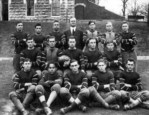 Taylor (back row, center) and his 1914 champion KSD football team