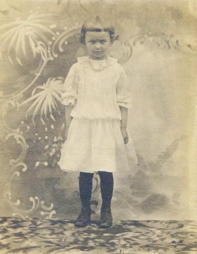 Portrait of unidentified girl