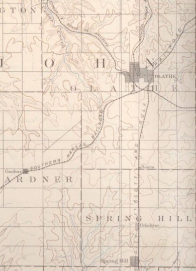 Johnson County map, 1893