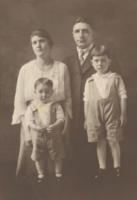 unidentified family portrait.