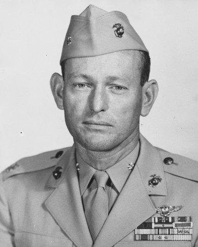 Portrait of unidentified Marine officer