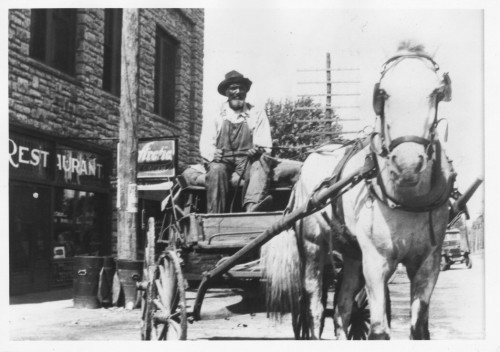 Photograph of postal carrier Cornelius Jackson in Merriam, Kansas