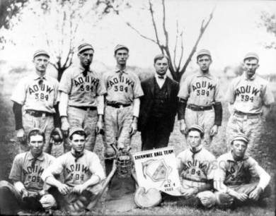 Shawnee A. O. U. W. baseball team, 1903