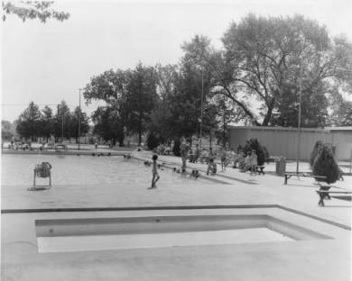 Swimming pool at Soc-Hop in Lenexa circa 1963