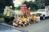 Lenexa Community Days parade, Country Hill Bank float, circa 1985. Original: http://www.jocohistory.org/cdm/ref/collection/lhs/id/1627