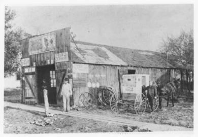 Gillett's Blacksmith Shop: Henry Gillett Circa 1870s. Walnut Street and Pflumm Road Lenexa, KS Original: http://www.jocohistory.org/cdm/ref/collection/lhs/id/1085