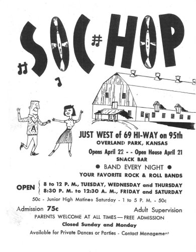 Flyer for the Soc Hop in 1960 (courtesy of Mike Weaver).