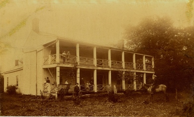 "The McAnany family home, ""The Groves,"" circa 1882."