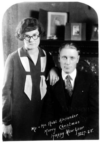 Mr. & Mrs. Robert Alexander, 1927 Original image: http://www.jocohistory.org/cdm/ref/collection/jcm/id/3051