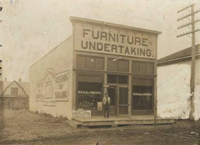 Ryan & Co. Furniture and Undertaking, circa 1900 Shawnee, KS Original image: http://www.jocohistory.org/cdm/ref/collection/jcm/id/1827