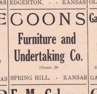 Advertisement in the 1922 Atlas of Johnson County Original document: http://www.jocohistory.org/cdm/ref/collection/atlas/id/162