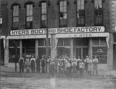 Hyer Boot Factory, date unknown Original image: http://www.jocohistory.org/cdm/ref/collection/jcm/id/1952