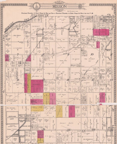 Mission Township on pp. 28-29, 1922 Atlas of Johnson County Philip Reinhardt's land parcel is in section 10 Full atlast at http://www.jocohistory.org/cdm/ref/collection/atlas/id/162