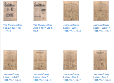 Newspapers available at JoCoHistory http://bit.ly/1hi0E5j