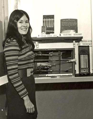 Gayla Frazier in 1972.