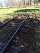 Strang Line railroad remnants in Strang Park