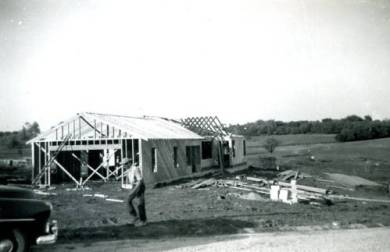 House construction in White Haven subdivision, 1953.  Original:  http://www.jocohistory.org/cdm/ref/collection/jcm/id/15050