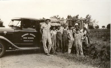 Shawnee Mission FFA members, circa 1935.