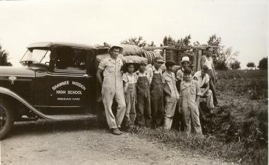 Shawnee Mission FFA members, circa 1935.