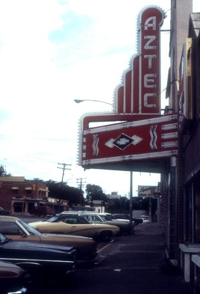 The Aztec Theater in Shawnee was originally known as the Mission Theater and operated from 1927 until 1975.