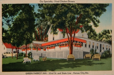 Green Parrot Inn postcard, circa 1950.