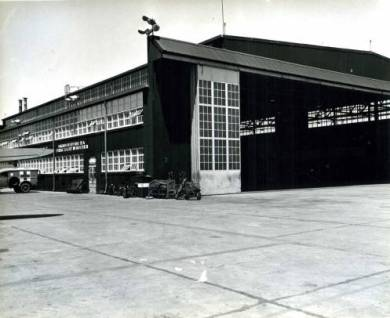 Administration Building of the Olathe Naval Air Station, circa 1945