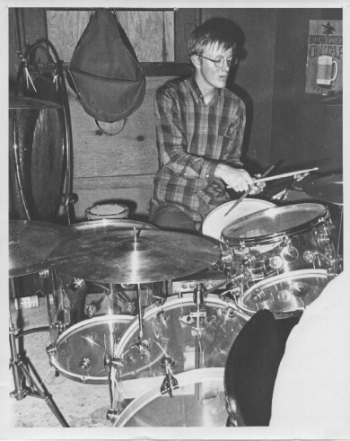 Mike Thompson playing on a Zickos drum set. Photo courtesy of Mike Thompson.