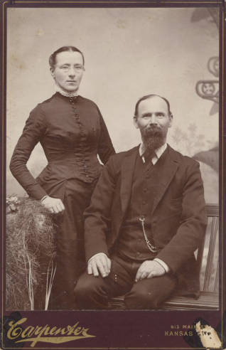 Margaretha and William Lackman, ca. 1905. Source: JoCoHistory.org.