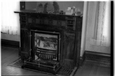 Fireplace at Lackman-Thompson Estate. Source: JoCoHistory. org.
