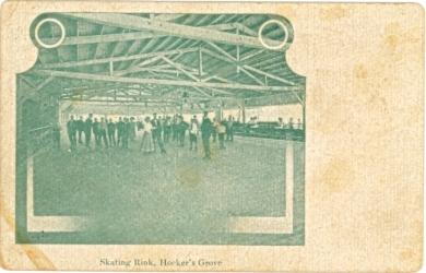 Crowds skating at the Hocker Grove skating rink, 1908-1915