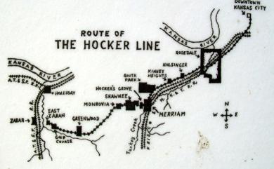 Hocker Trolley line map