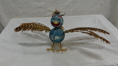 "The Whizzolark was just one of many ""Whizzo's Wonderland"" characters, all made by hand from simple components. (Johnson County Museum collection)"