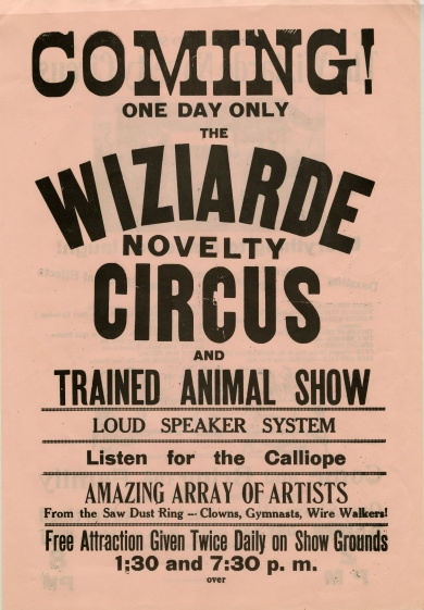 When the Wiziardes were not performing in their family circus, they were running a successful bakery in Westmoreland, Kansas.