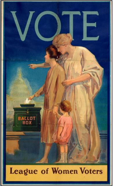 League of Women Voters poster, c. 1920. Courtesy Library of Virginia.