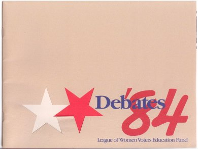 The League of Women Voters of Johnson County was a sponsor for the 1984 presidential debates, held in Kansas City, Missouri. The debate was between President Ronald Reagan and former VP Walter Mondale.