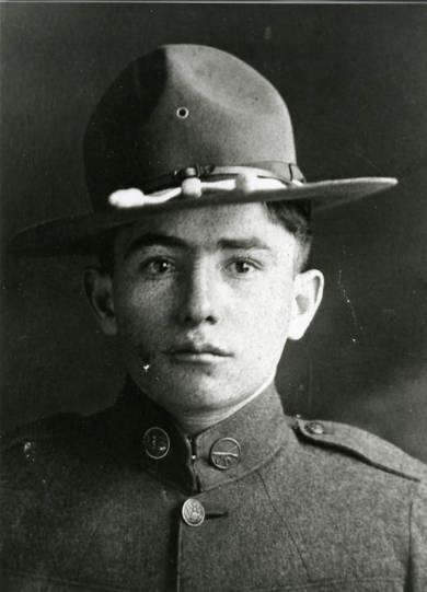 Charlie Ashner in a World War I army uniform