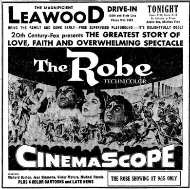 06 1954 Leawood Drive-In The Robe Ad