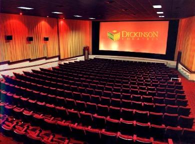 Bird's eye view of a SouthGlen 12 auditorium.