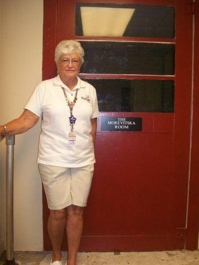 Jan Morevitska standing outside the Morevitska room