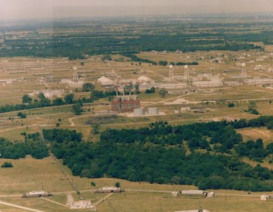 An aerial view of the Sunflower AAP site taken in 1984.