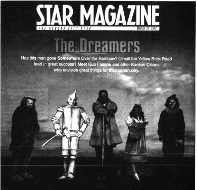 """Gus Fasone made the cover of the Kansas City Star's """"Star Magazine"""" cover in March 1992. Courtesy Kansas City Public Library, microfilm. Photo by Steve Gonzales."""