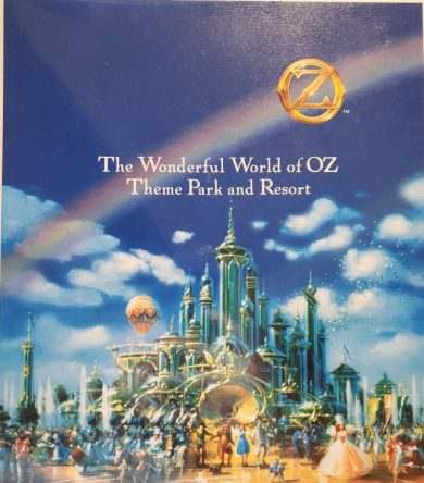 Cover of a binder of information about the Wonderful World of Oz park, created for the BOCC.