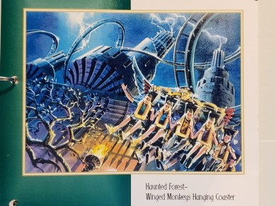This colorful artwork is from a Wonderful World of Oz binder created by Oz Entertainment Company for the BOCC.