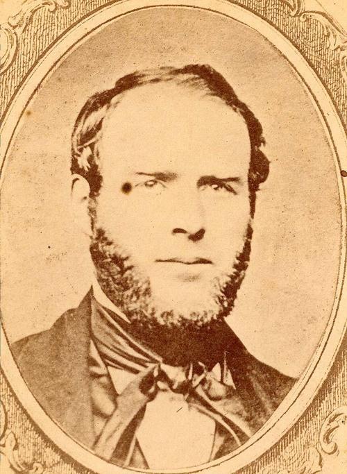 James Burnett Abbott, one-time Indian Agent to the Shawnee and schemer against the Black Bob Band. Courtesy Kansas Historical Society.