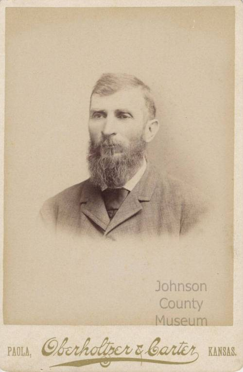"Dr. Zelas Alexander Harkey, a ""horse and buggy"" doctor in Gardner. Johnson County Museum collection."