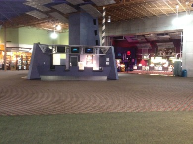 A view of the Dickinson Theatre's box office and snack bar inside the Great Mall of the Great Plains.