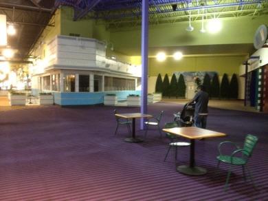 An empty Johnny Rockets store.