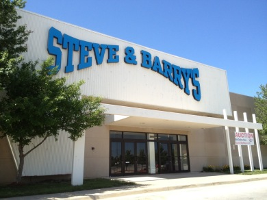 Store entrance to Steve & Barry's