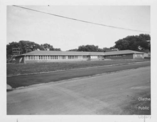 An early view of the Olathe Community Hospital, likely from the late 1950s. Courtesy Olathe Public Library. For more photos, see JoCoHistory.