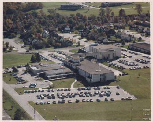 The Olathe Community Hospital as it appeared in 1970, following the construction of a new facility two years earlier. Courtesy Olathe Public Library.